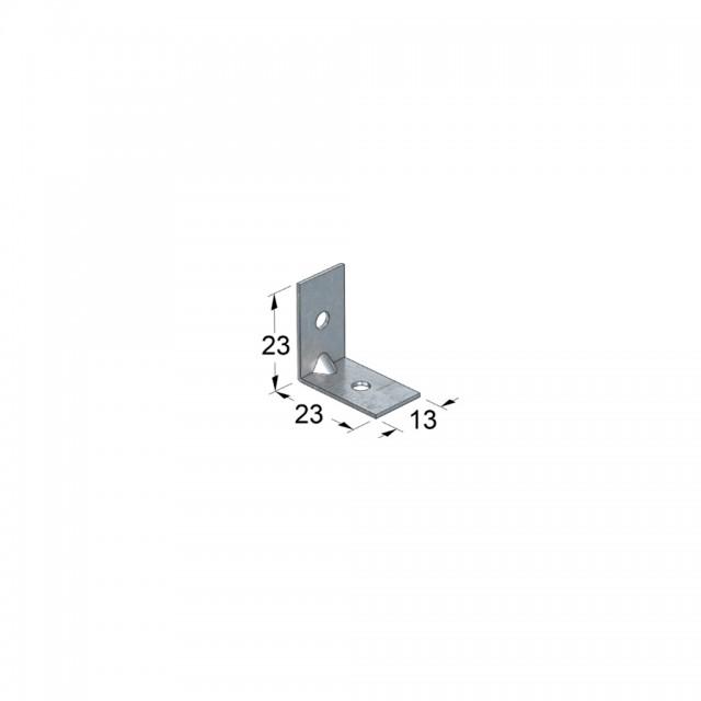 METAL CORNER 23x23x16 GALVANIZED